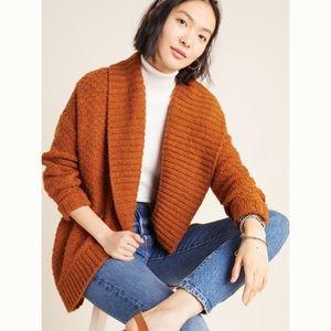 Anthro Denise Shawl Collar Wool Blend Cardigan